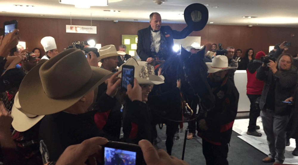 Calgary horse craps on Grey Cup tradition in Toronto hotel