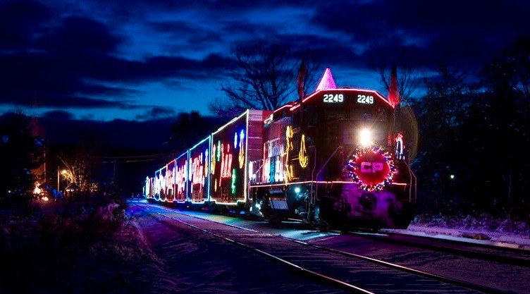 You can watch Canada's magical holiday train online this month