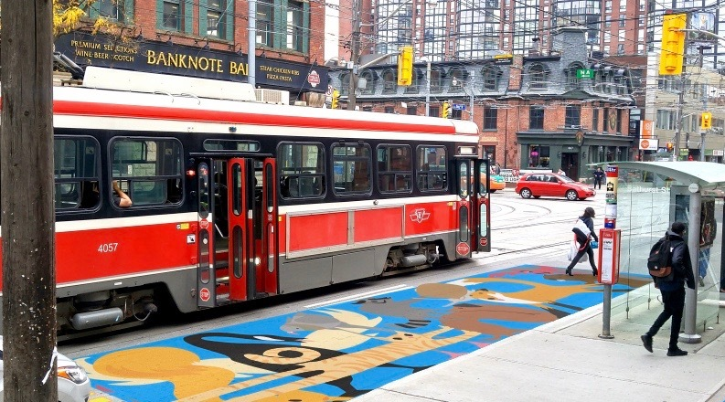 Beautiful 'streetcar safety murals' proposed for downtown Toronto