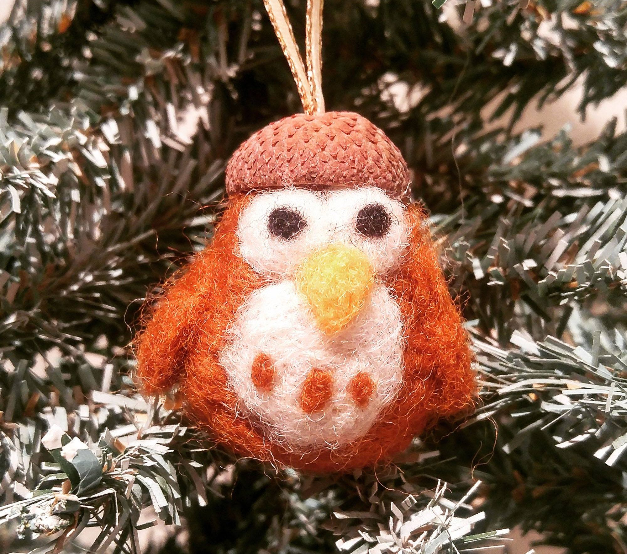 An owl created with needle felting (Homestead Junction)