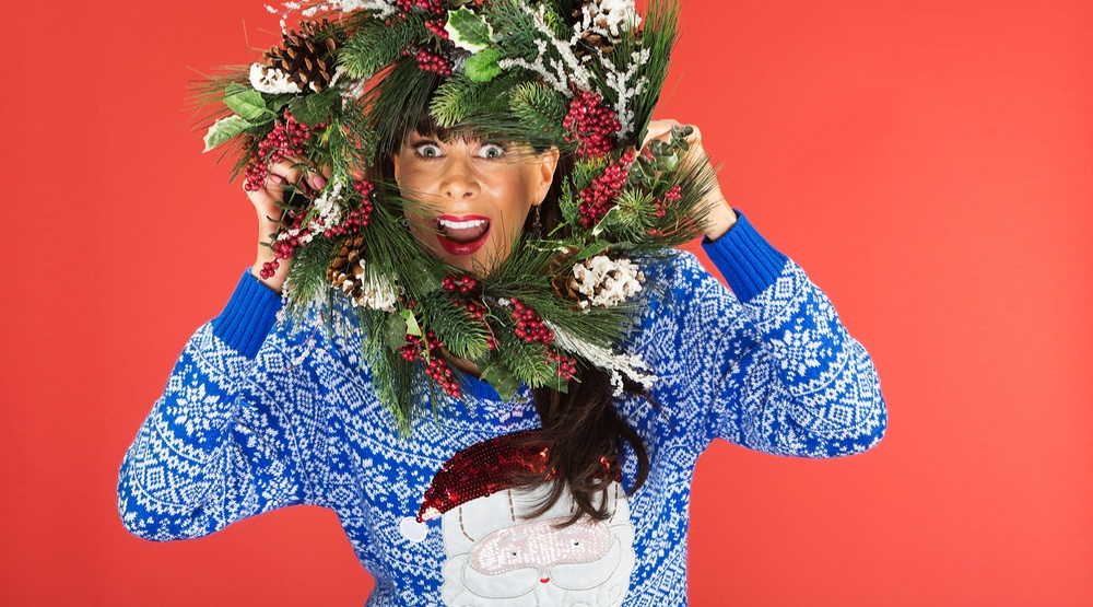 Options abound for ugly Christmas sweater shopping in Vancouver. (Image: CREATISTA/ Shutterstock)