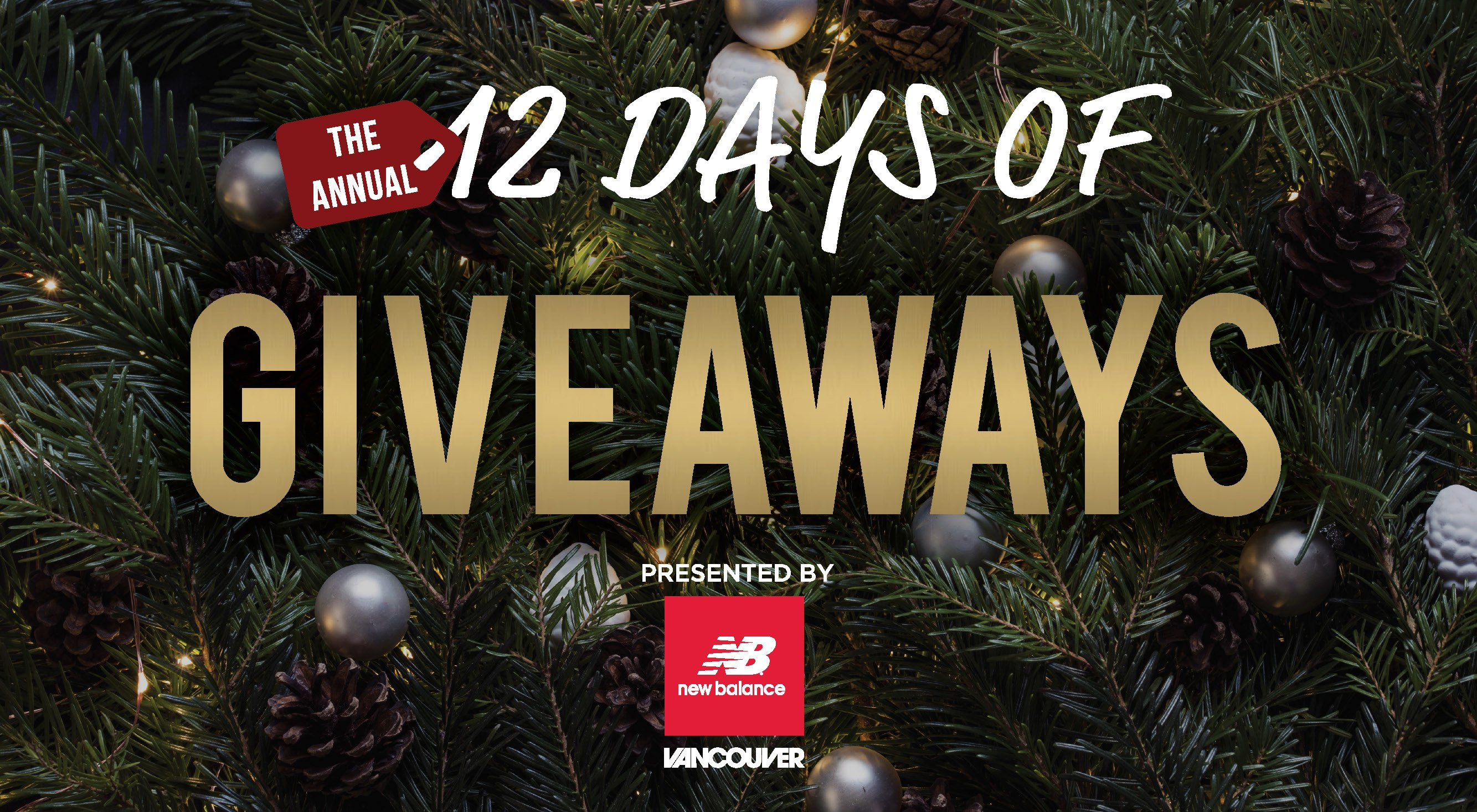 More than $32,000 in prizes in our annual 12 Days of Giveaways