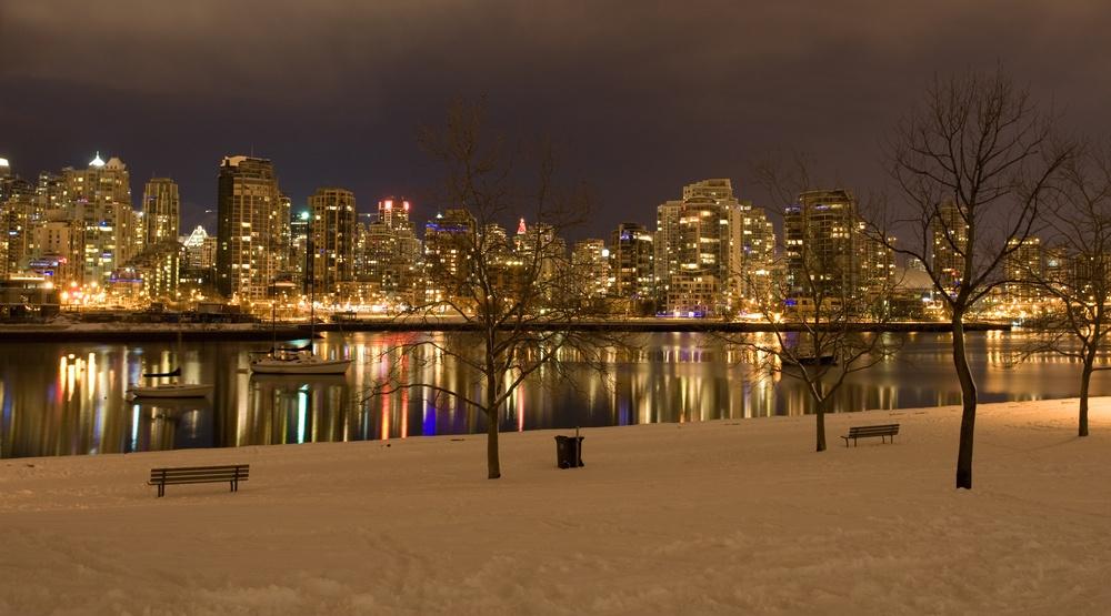 Vancouver snowfall false creek snow