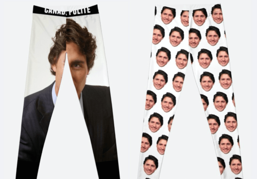Holiday gift alert: You can now buy leggings with Justin Trudeau's face on them