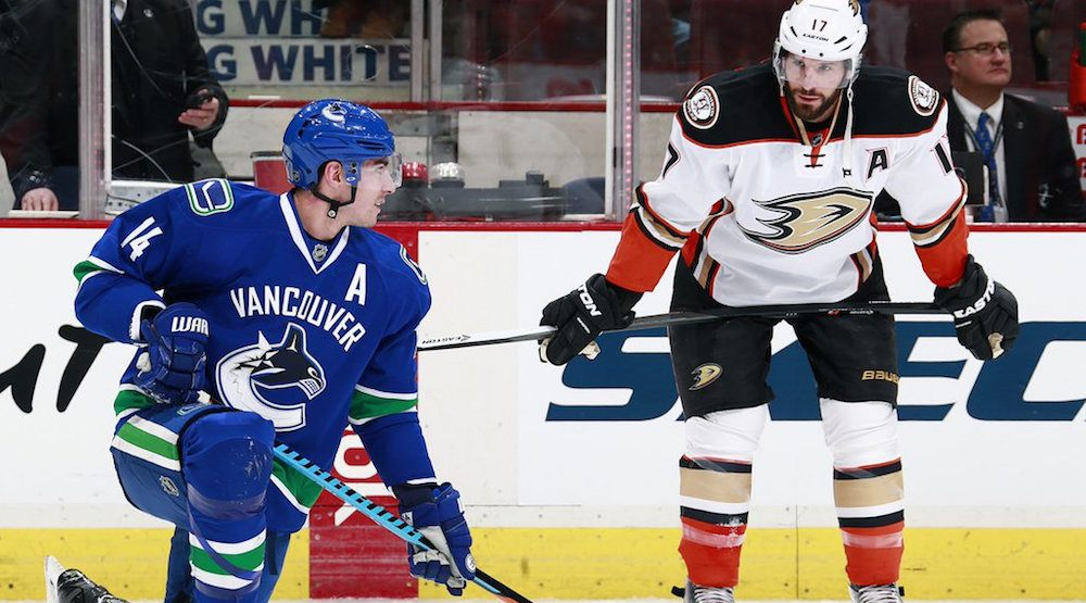 Canucks and Ducks clash in Burrows' 800th game