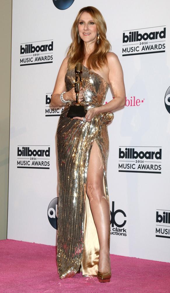 Celine Dion at the Billboard Music Awards 2016 at the T-Mobile Arena in Las Vegas (Helga Esteb/Shutterstock)