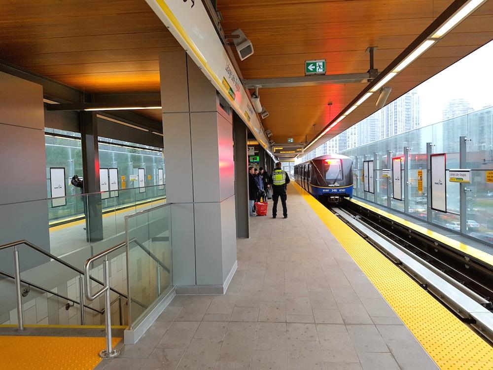 Skytrain evergreen station 13