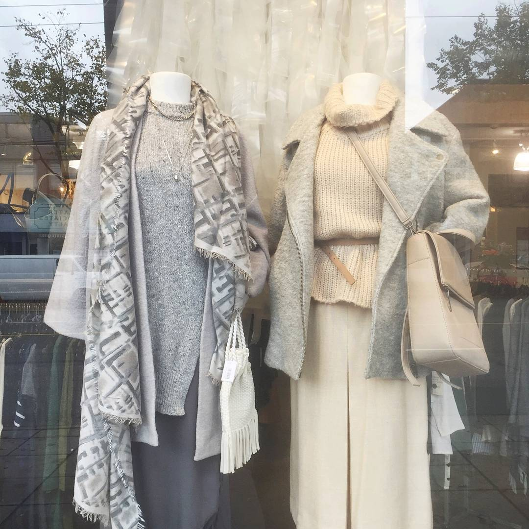 aritzia, zara, anthropologie, front and company, hudsons bay, black goat cashmere, oak and fort , helen siwak, daily hive, sweaters