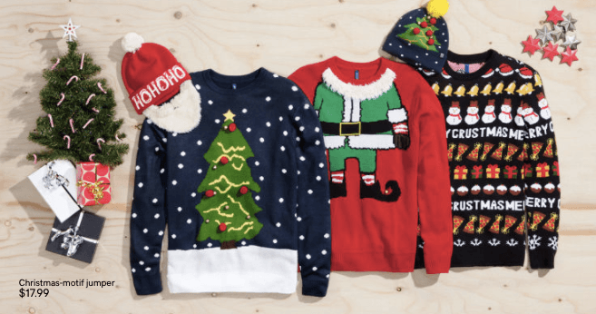 H&M's ugly Christmas sweaters/H&M