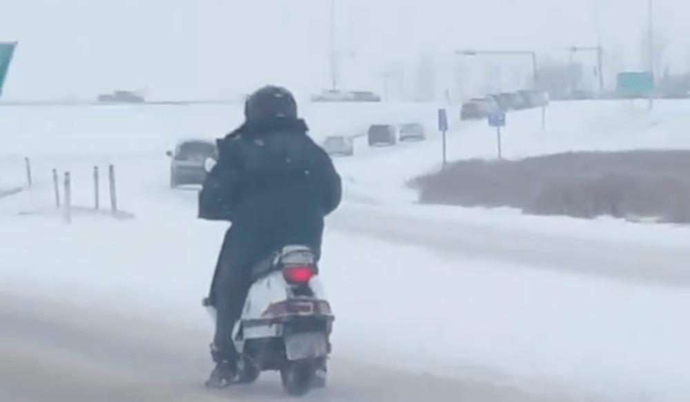 Calgary scooter guy winter