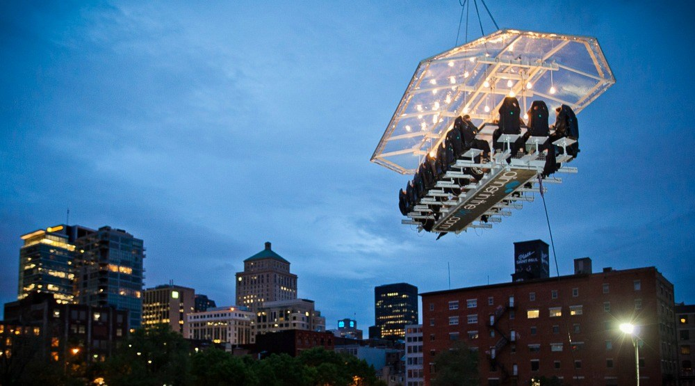 Experience Fine Dining Feet In The Sky CONTEST Daily Hive - Dinner in the sky an unforgettable experience