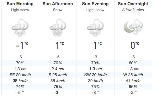 Toronto Weather Snow December