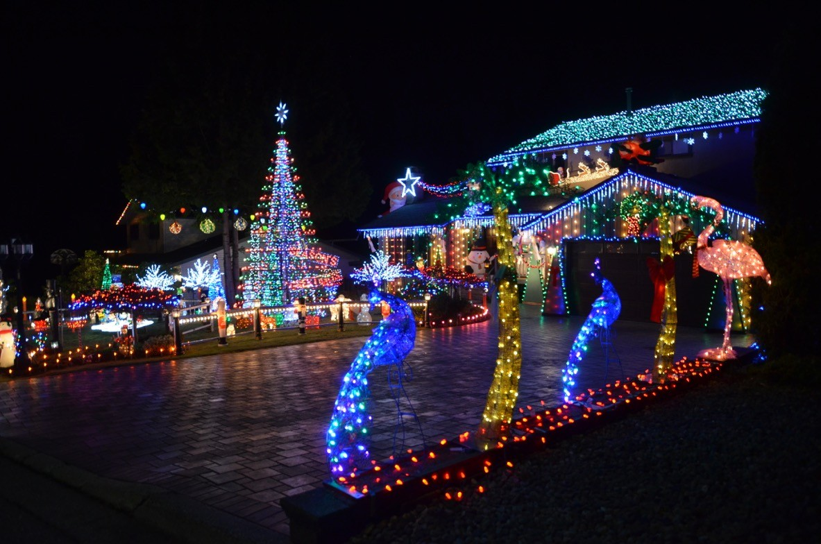 Christmas Lights at the DuPlessis family home in Burnaby (Joel DuPlessis)