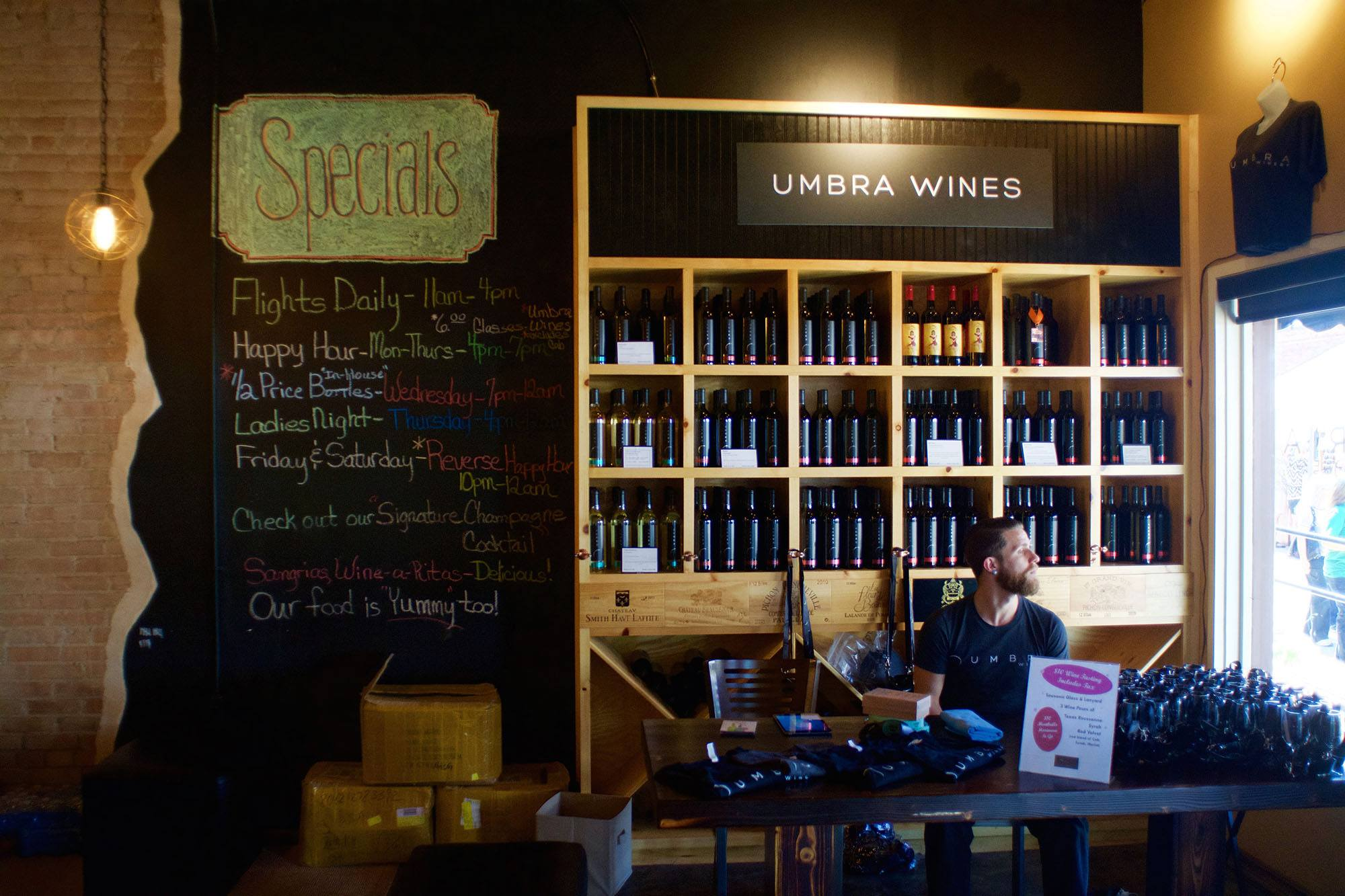 At Umbra winery (Adrian Brijbassi)