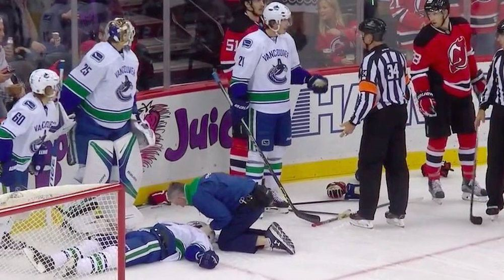 SixPack: Canucks loss to Devils overshadowed by Hall hit on Larsen
