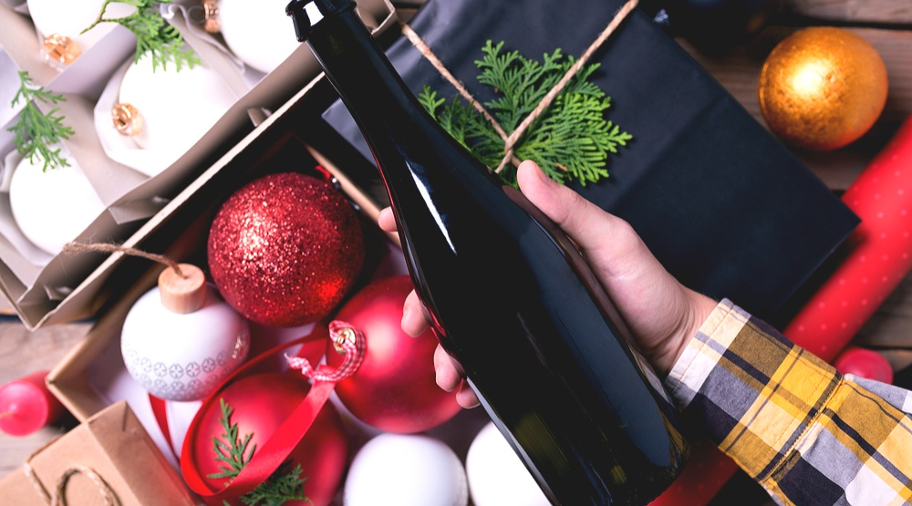 Wine holiday gift