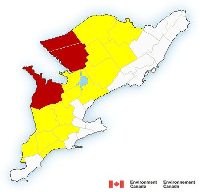 snow squall warning Ontario
