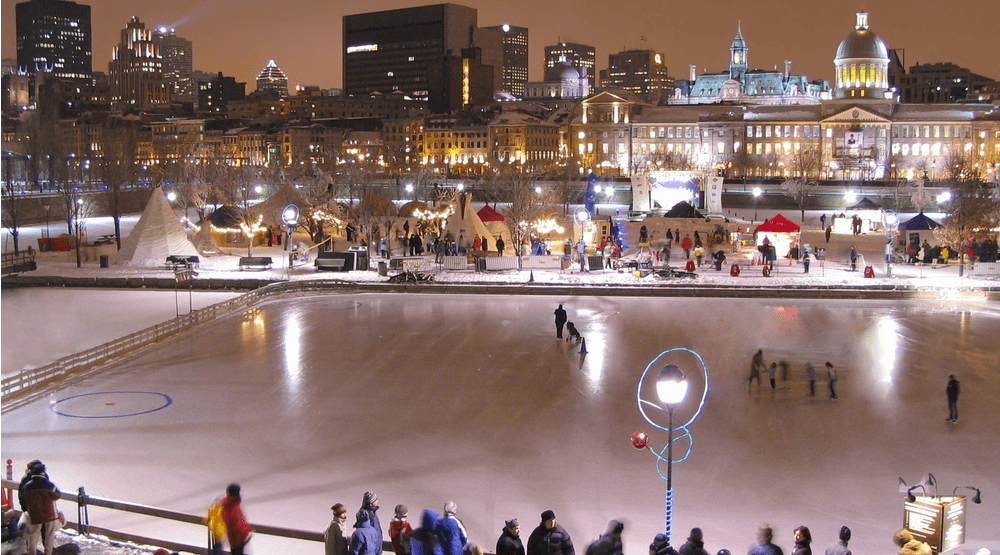 Old Montreal's magical ice skating rink officially opens tomorrow
