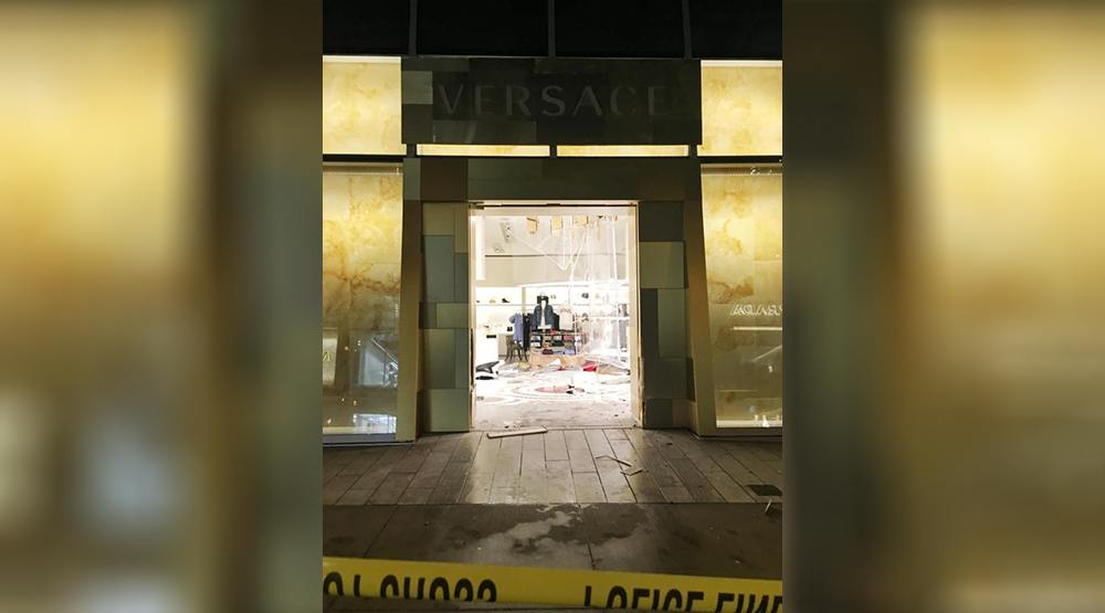 Versace alberni street robbery
