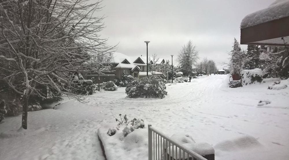 Coquitlam snowfall snow