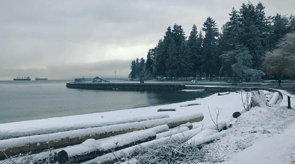 19 photos of a snowy Monday morning in Metro Vancouver