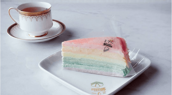Millie opens cafe in Markham and introduces RAINBOW crepe cakes