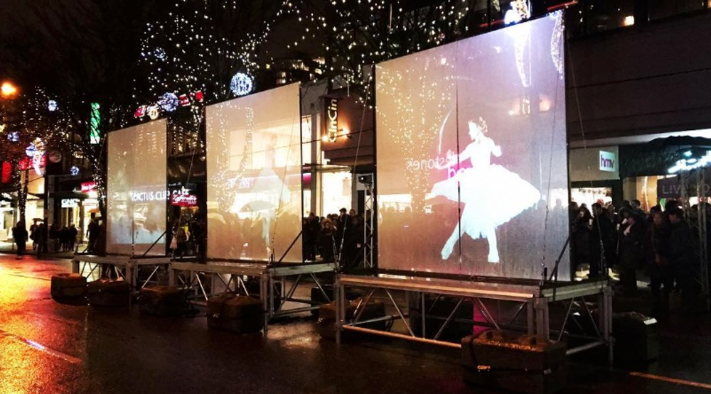 Robson Street lights up with The Nutcracker on the big screen (PHOTOS)