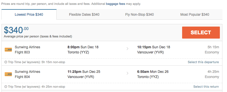 Travel from Toronto to Vancouver for $320/Flight Hub
