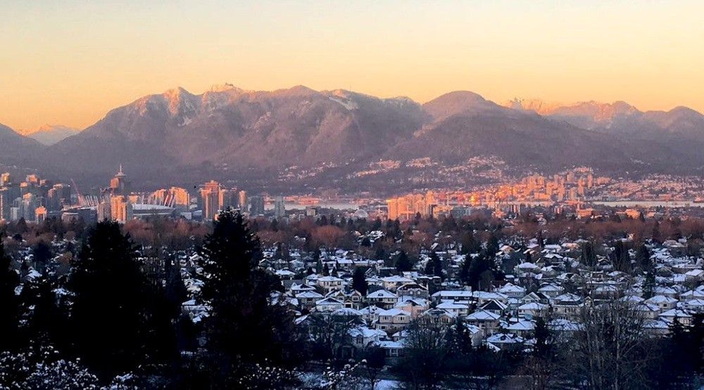 Vancouver snow housing real estate mountains queen elizabeth park
