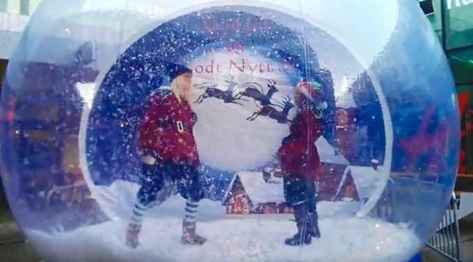 There will be a life-size snow globe at the Enchant Christmas Light Maze this weekend
