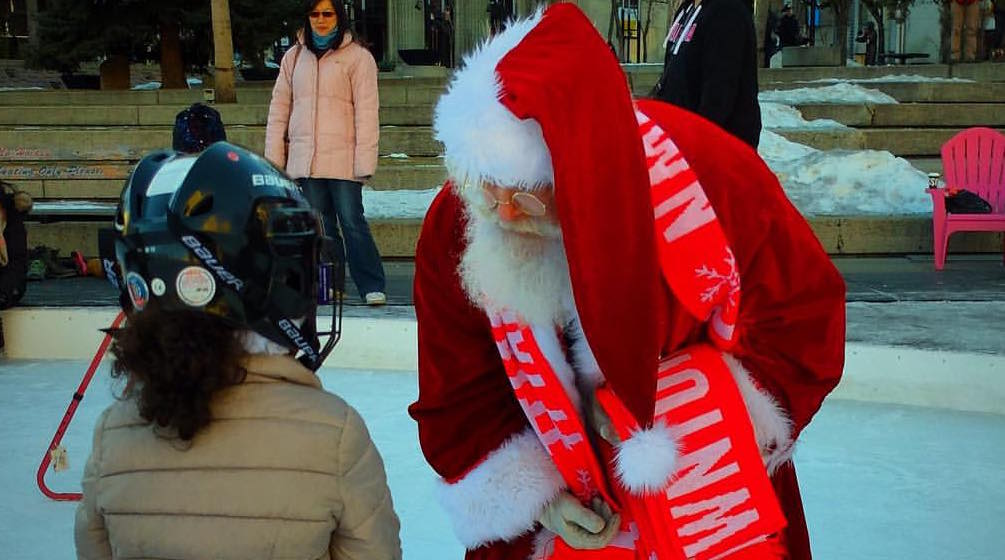Skate with Santa at Olympic Plaza this weekend