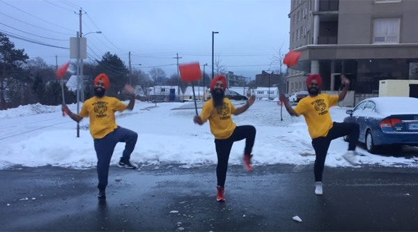 Canadian Bhangra dance group makes amazing snow shovelling video