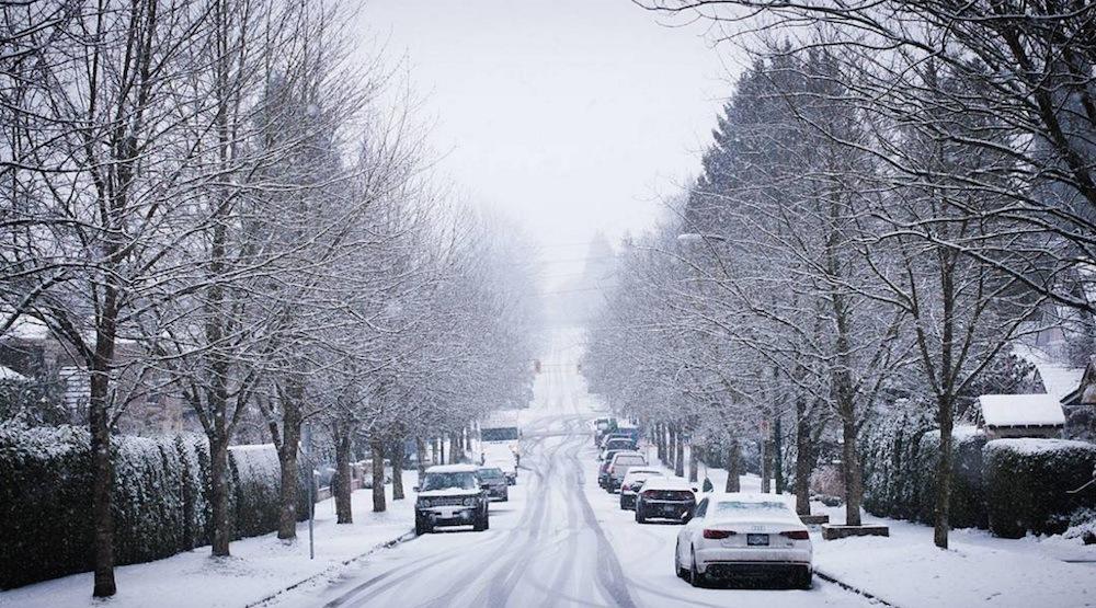 Vancouver street snow snowfall