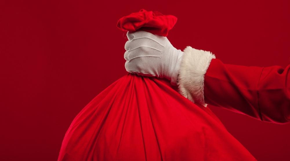 Santa bag hand