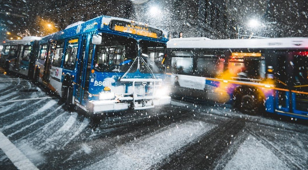TransLink is bringing back its 'tire socks' in preparation for winter weather