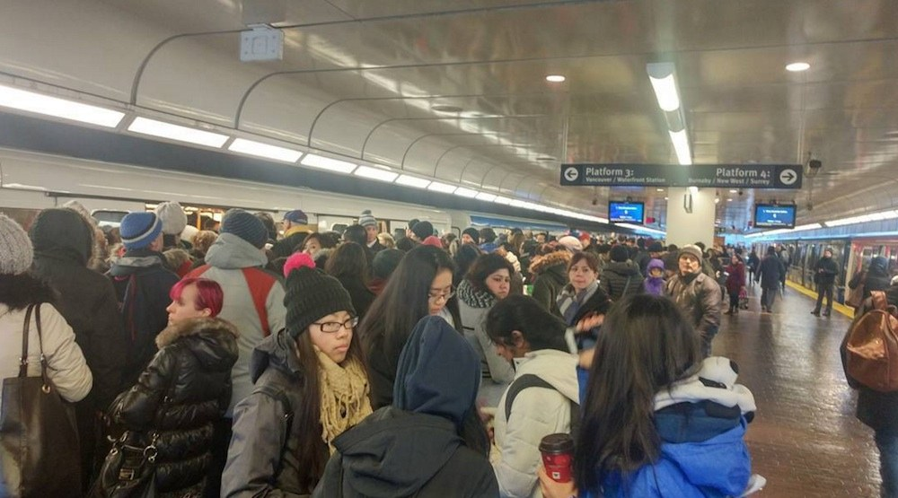 Skytrain delays crowd