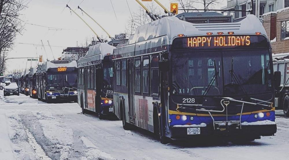 Bus vancouver snow snowfall