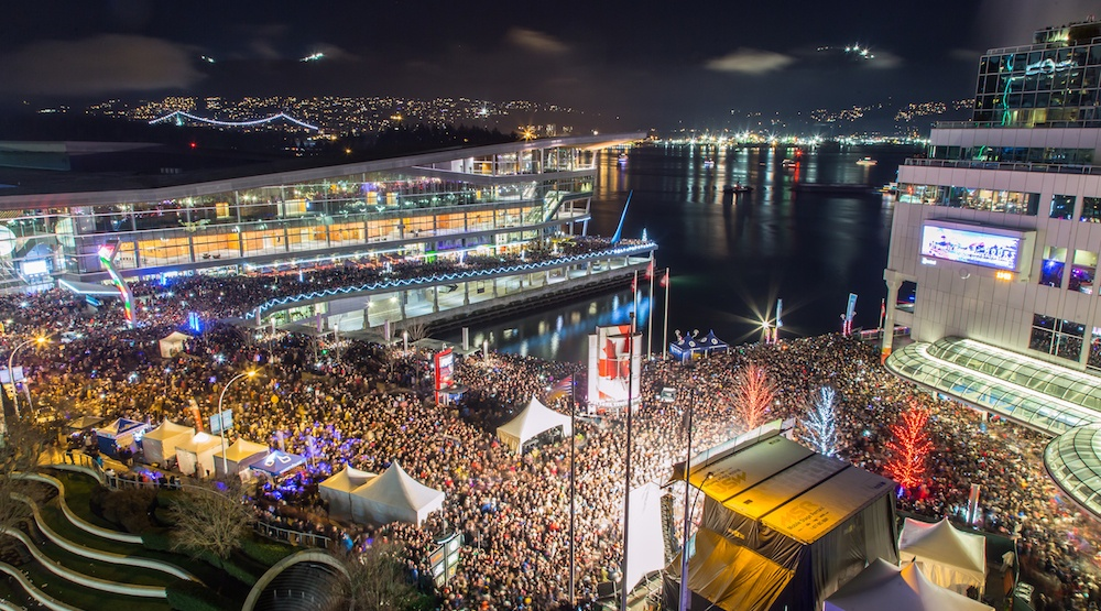 Nye fireworks crowds vancouver