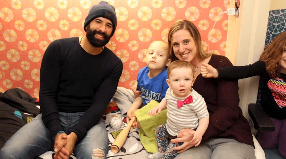 Blue Jays' Jose Bautista surprises children at Sick Kids Hospital (PHOTOS)