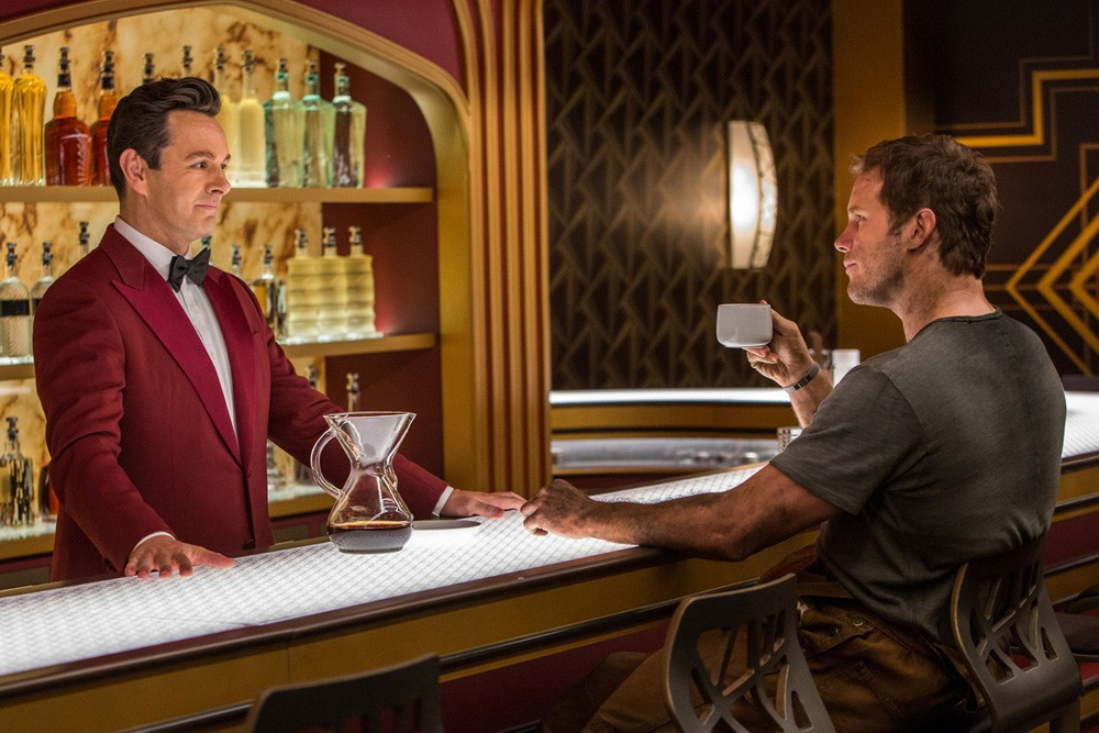 Passengers 2016 Movie Review Chris Pratt Michael Sheen
