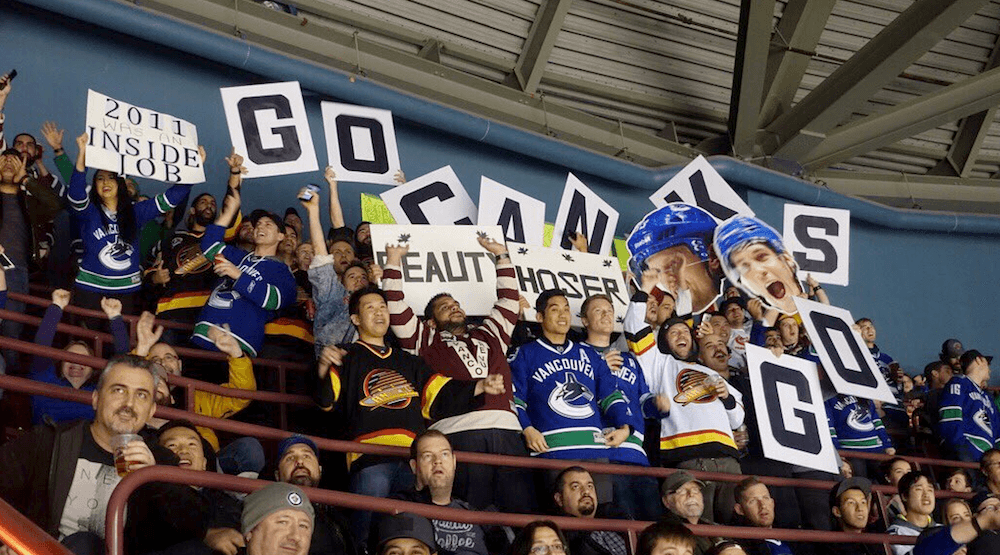 The new Canucks supporters section shows their love for their team! (Vancouver Canucks/Twitter)