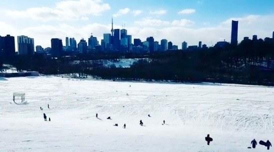The best hills to go tobogganing in Toronto
