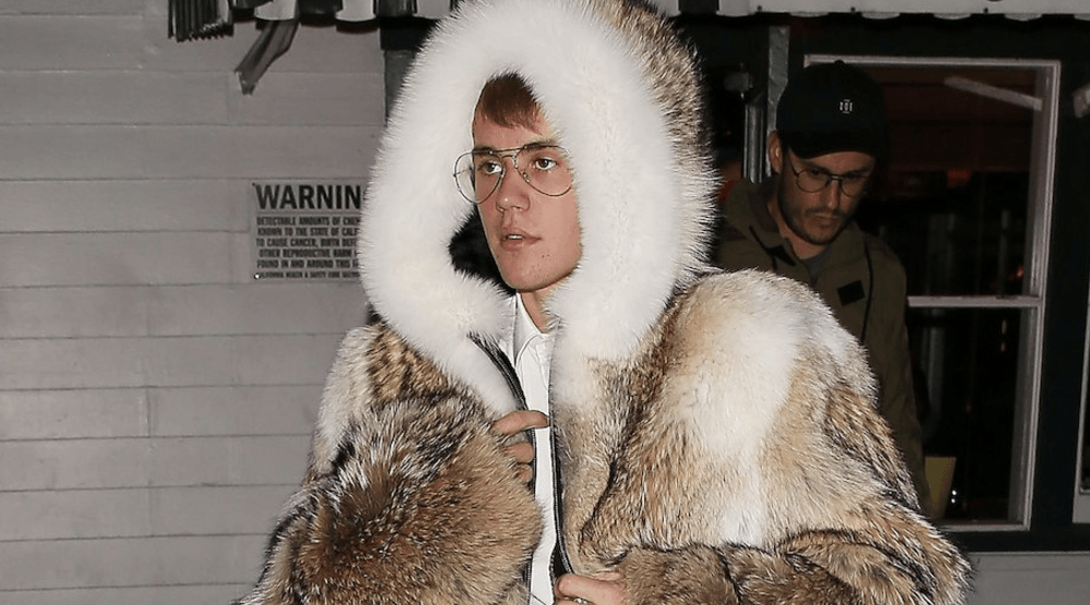 Justin Bieber berated for wearing fur