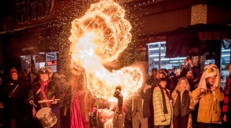 21 photos of the firey winter solstice celebrations in Kensington Market