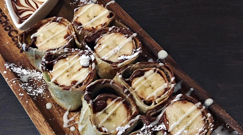 You have to try the Nutella Sushi Crepe at this Montreal restaurant
