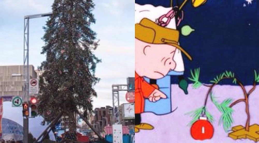 "Ottawa mayor mocks Montreal's ""Charlie Brown"" Christmas tree"