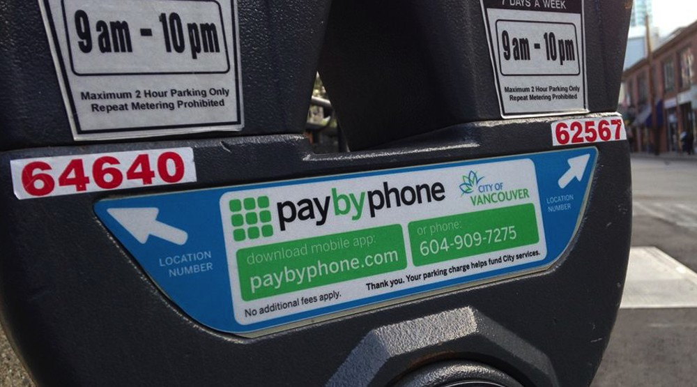 Paybyphone parking meter vancouver