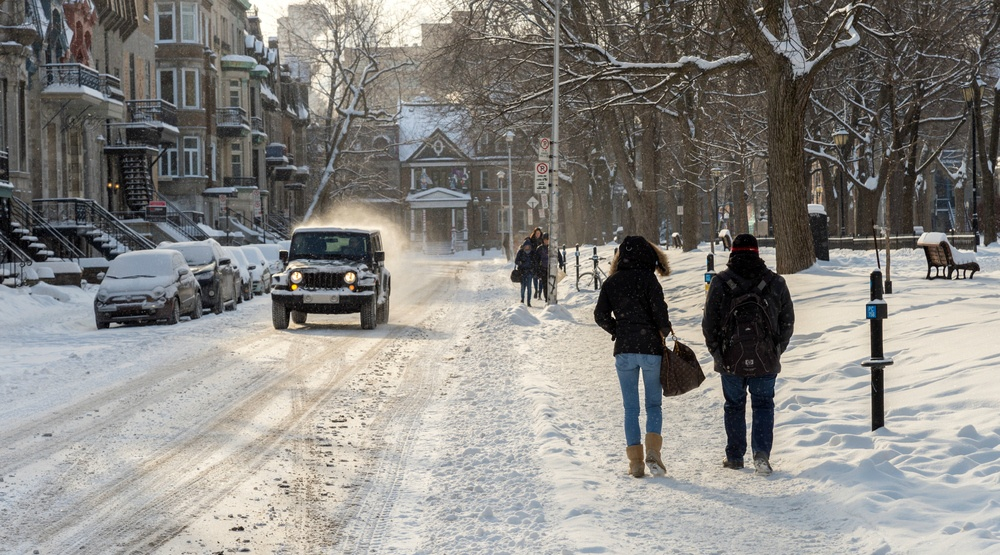 A snowfall warning is in effect for Montreal