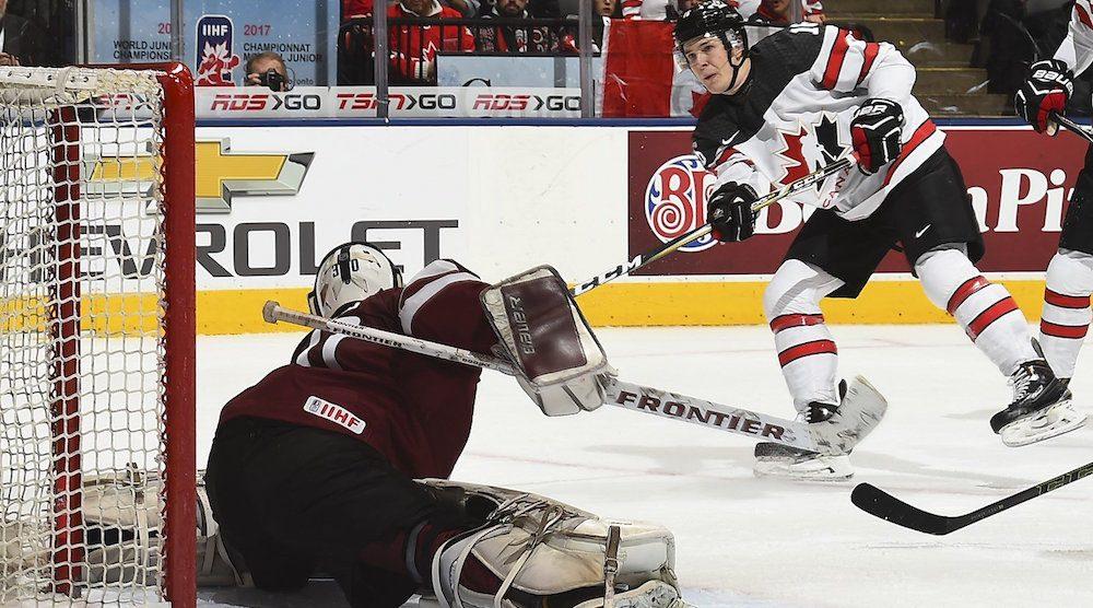 Canada Destroys Latvia 10 2 At World Juniors Highlights Offside