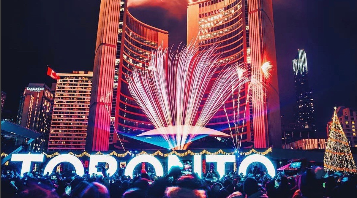 21 photos and videos of last night's Nathan Phillips Square NYE celebration